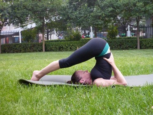 young woman yoga fitness