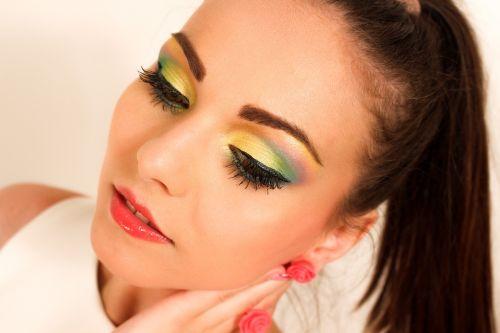 young woman makeup model