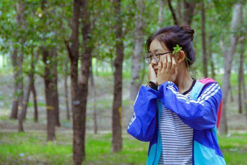 youth shy beautiful