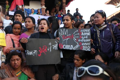 protestas,basantapur,katmandu