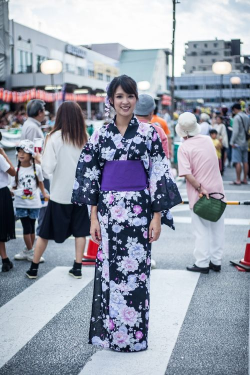 yukata lady country japan