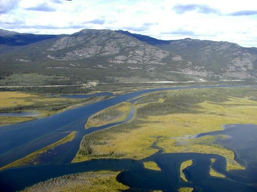 yukon river landscape aerial view