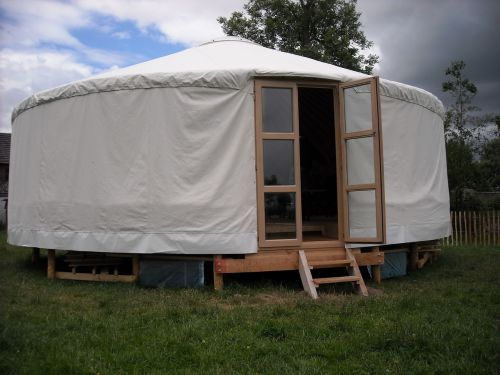 tent wooden building home