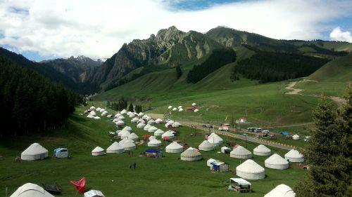 yurts in xinjiang views