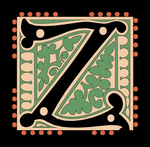 z alphabet vintage