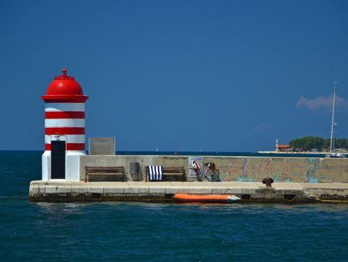 zadar lighthouse croatia