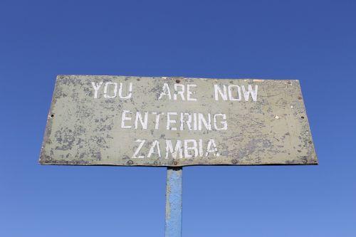 zambia roadsign africa