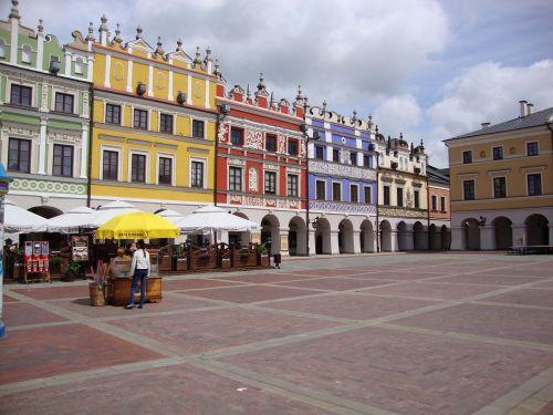 zamość poland the market