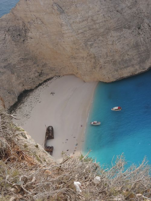 zante shipwreck beach august