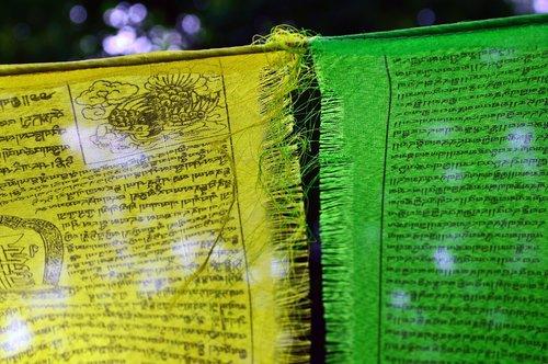 zaszlo  prayer flags-yellow  green