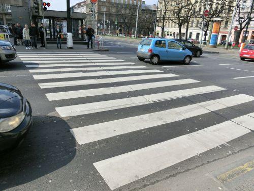 zebra crossing road city