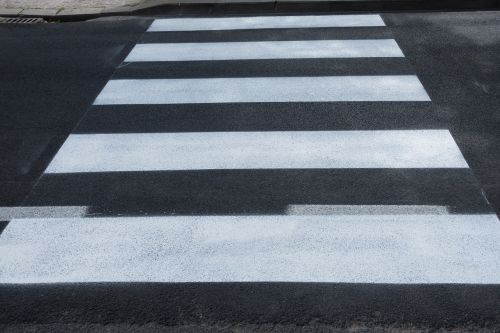 zebra crossing black white