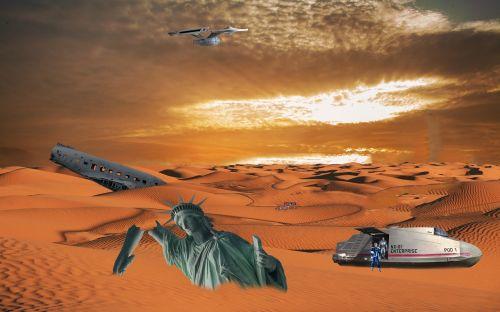 zeitsprung spaceship desert