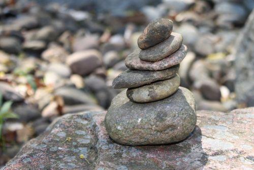 zen cairn stones