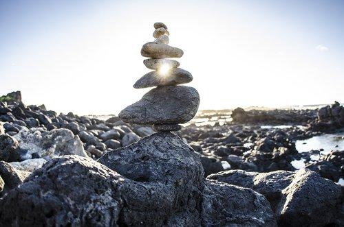 zen  rock cairn  rocks