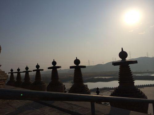 zen the morning sun stupa