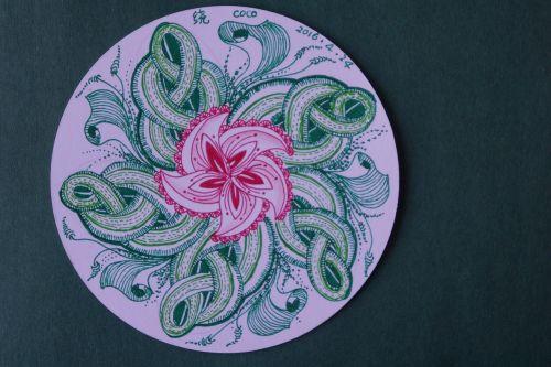 zen around the painting circle rotate