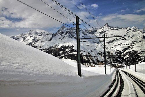 zermatt  the alps  snow