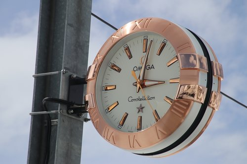 zermatt  the alps  clock