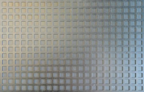 zinc sheet steel grid texture