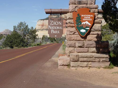zion national park entrance national park