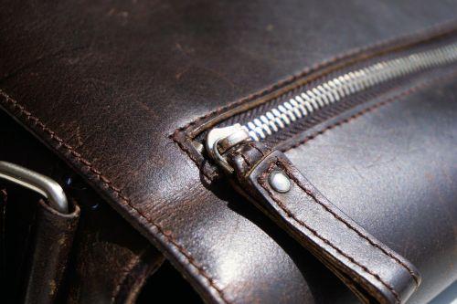 zip bag leather