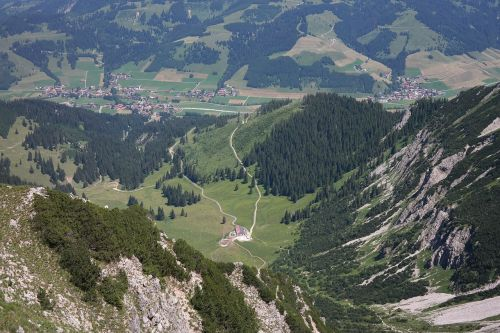 zipfel alp behind stone allgäu alps