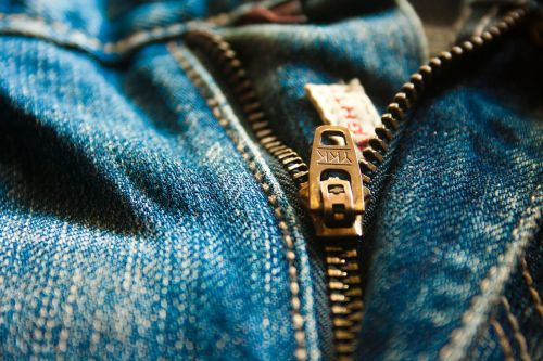zipper jeans denim