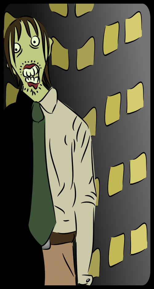 zombie terror scary