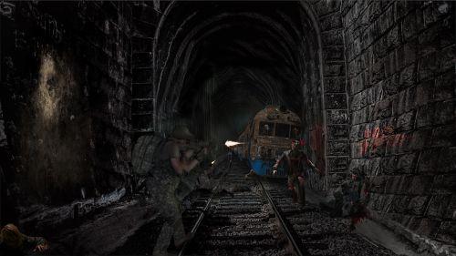 zombie tunnel dark