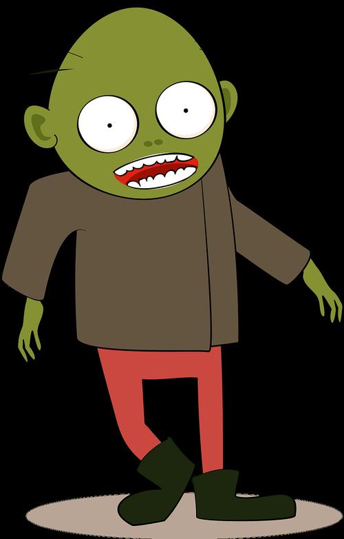 zombie  cartoon  green