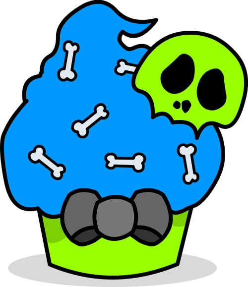 zombie cupcake skull