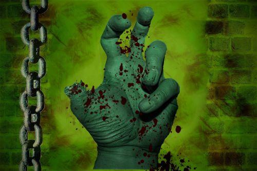 zombie hand chain