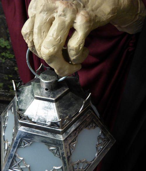 Zombie Hand Holding A Lantern