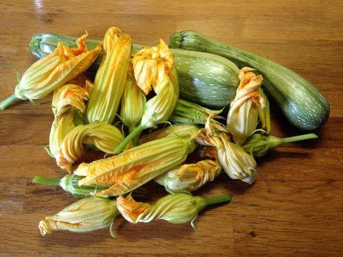 zucchini zucchini flowers vegetables