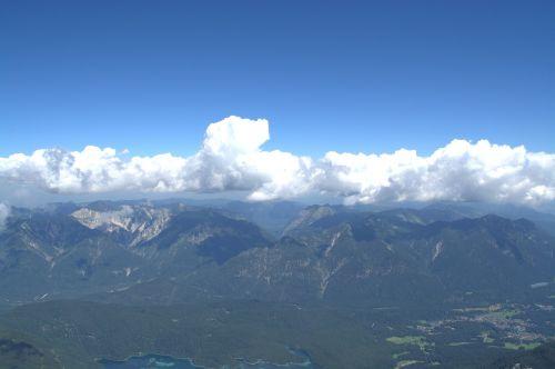 zugspitze wetterstein mountains far right