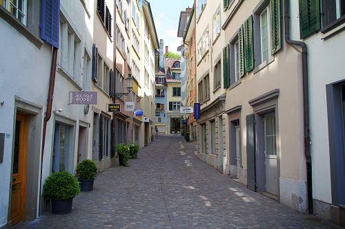 zurich switzerland alley