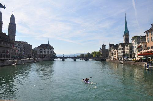zürich river kayak