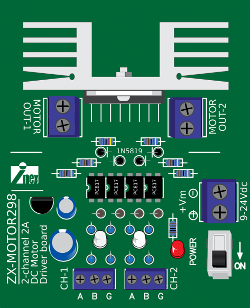 zx-motor298 motor driver driver